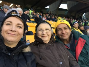 Vivian at a football game with her family